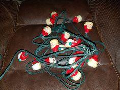 Vintage Set of Plastic Santa Head Christmas Lights by VintageBarnYard on Etsy