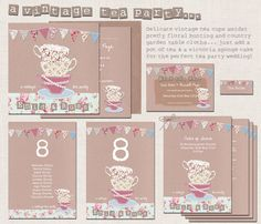 tea party wedding stationery - Google Search