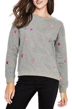 Arabella Drop Shoulder Sweatshirt by BODEN on @nordstrom_rack Shoulder Sleeve, Nordstrom Rack, Crew Neck, Drop, Pullover, Sweatshirts, Long Sleeve, Sleeves, Cotton
