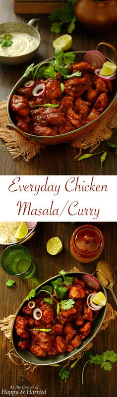 EVERYDAY CHICKEN MASALA OR CURRY - HAPPY&HARRIED