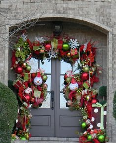Decorating, Best Front Door Christmas Decorating Ideas Pic3: Cute Christmas Door Decorating Ideas