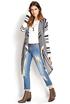 Easy Striped Cardigan   FOREVER21 $27.80