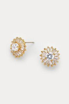 CZ Isabelle Earrings in Gold