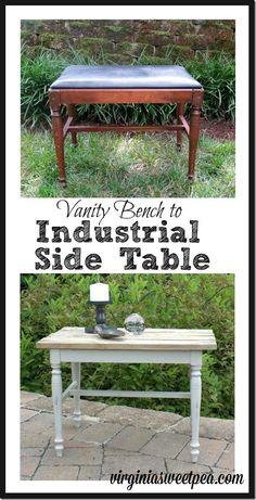 A sad vanity bench i