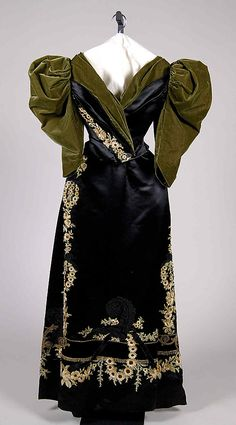 Evening Dress Made Of Silk, Made By Rouff - French    c.1895 - The Metropolitan Museum Of Art
