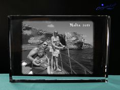 Crystal gifts Photo crystal 3d laser Family by Crystals3DEngraving
