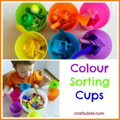 Colour Sorting Cups by Craftulate