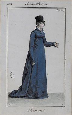 1816 Costumes Parisien. Amazone (riding habit).