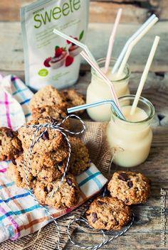 Μπισκότα βρώμης χωρίς ζάχαρη – με Sweete Stevia   Sugarbuzz Stevia, Cereal, Food And Drink, Baking, Breakfast, Cake, Foods, Cookies, Morning Coffee