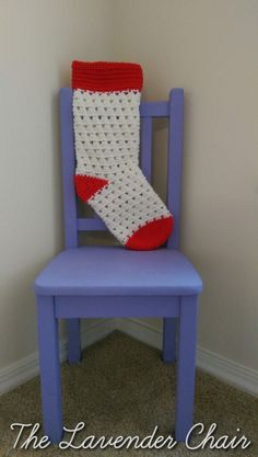 Lazy Daisy Christmas Stocking Crochet Pattern - The Lavender Chair