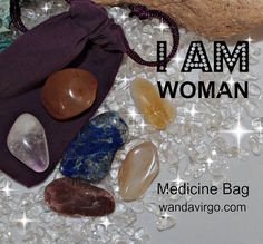 Menopause Woman Crystal Medicine Bag I AM Woman helps to balance your emotional & physical body to reduce the chemical & hormone imbalances during menopause by CrystalVibrations06 on Etsy $9.99 #menopause #crystal http://wandavirgo.com