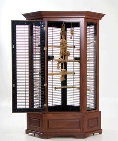 Easy elegant bird cage!! Repurposed curio!