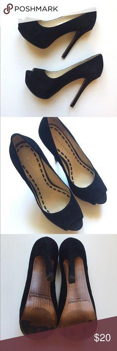 "Enzo Angiolini suede platform pumps - size 5 High heel pumps with 1"" platform. Very comfortable. Worn, but in good condition. Enzo Angiolini Shoes Platforms"