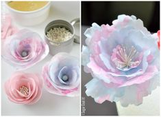 Vintage Wafer Paper Flowers and Pinwheels! #summerfun #isugarcoatit