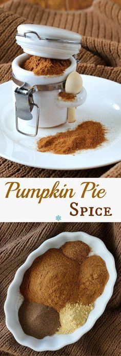 Homemade Pumpkin Pie Spice can be made in minutes with ingredients you probably already have. Add it to Pumpkin Spice Latte's, Spiced Popcorn and Sweet Spiced Nuts. ~ http://veganinthefreezer.com