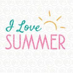 """Plotterdatei I love Summer"""""""""""