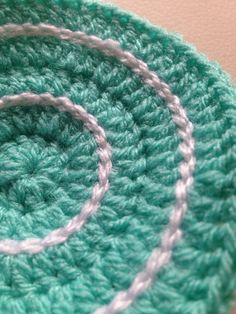 Crochet Coasters in Mint and White  Set of 4 by kylieB on Etsy, $15.00