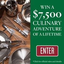 Enter to win a $7,500 culinary adventure of a lifetime from Williams-Sonoma and Tasting Table.