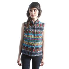 '90s Ikat Vest, $58, now featured on Fab.