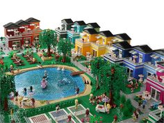 LEGO Friends-Themed Custom Rainbow Holiday Center by Anne Mette