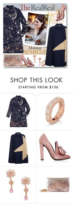 """Holiday Sparkle With The RealReal: Contest Entry Chic Statement"" by milva-bg ❤ liked on Polyvore featuring Valentino, Roberto Coin, MSGM, Alexander Wang, La Hormiga and Chanel"