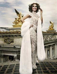 Amazing textured gown with fur coat- Zuhair Murad