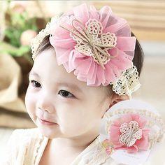 1PC New Cute Newborn Hairbands Big Flowers Bow Elastic Hair bands Rubber Band  Baby Headband Children 0e912ce92a3e