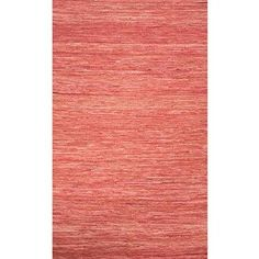 Amazon.com - Addison and Banks Flat-Weave Solid Pattern Cotton Area Rug, 8' x 10', Red -