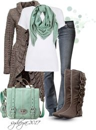 love the mint green with brown
