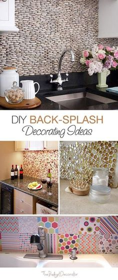 DIY Back-Splash Decorating Ideas  5 How-Tos!