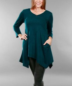 Another great find on #zulily! Teal Handkerchief Tunic - Plus #zulilyfinds
