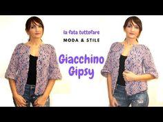 TUTORIAL: Giacchina Gipsy/taglio chanel/top down*lafatatuttofare* - YouTube