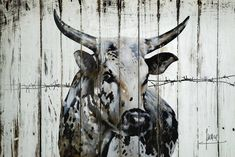The Choice In Bespoke Printing, Wall Art and Mirrors At Affordable Prices in Fourways and Sandton Bull Painting, Painting On Wood, African Tribes, African Art, Cow Drawing, Bull Cow, Cow Art, Livestock, Cattle