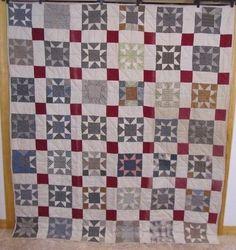Antique 1900s Pennsylvania Star Quilt Lancaster County Assorted Fabrics | eBay