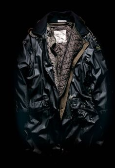 """Raso Gommato Covermat raincoat, Stone Island From the book """"Ideas from Massimo Osti"""" Stone Island Jacket, Brave Kids, Dedicated Follower Of Fashion, Dog Raincoat, Raincoats For Women, Cool Jackets, Young Fashion, Well Dressed Men, Men Styles"""