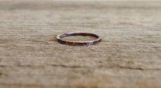 Antique Copper Hammered Stacking Ring MADE TO ORDER - TesoroDelSol