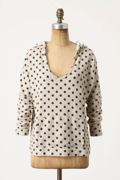Anthropologie Sam & Lavi Prancing Rounds Polka Dot Hoodie