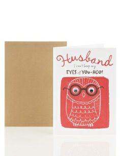 Husband Owl Valentine's Day Card