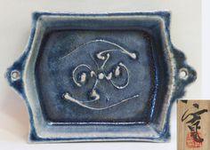 Doro-e Dish by Pottery Master Kawai Kanjiro, Japanese, Stoneware (pre 1970)