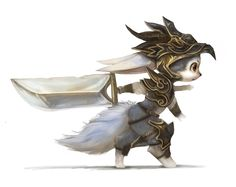 Random dragon warrior by ~Silverfox5213 on deviantART  Contextual research for interesting use of clothes on animal