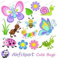 50% OFF Venta insectos Imágenes Prediseñadas Linda por Alefclipart