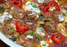 Home - Kifőztük My Recipes, Beef Recipes, Feta, Hungarian Recipes, Hungarian Food, Sausage, Bacon, Food And Drink, Pork