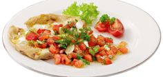 Gegrilltes Fladenbrot mit Dill-Tomaten