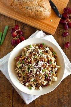 Honey Chicken Salad with Grapes and Feta - Pinch of Yum