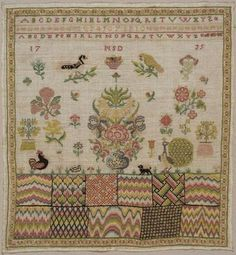 Engage your students with the collections of the Museum of Fine Arts, Boston, to illustrate themes and concepts in any discipline. Cross Stitch Sampler Patterns, Embroidery Sampler, Cross Stitch Samplers, Cross Stitch Needles, Native American Beadwork, Bargello, Sewing Notions, Fabric Samples, Needlepoint