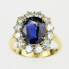 Vintage Sapphire & Diamond Ring Deleuse.com