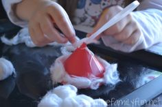 Make a simple Santa Hat Ornament to hang on your Christmas tree this year when you create this simple Christmas craft for kids. Christmas Activities For Kids, Christmas Crafts For Kids, Simple Christmas, Christmas Ornaments, Kids Crafts, Christmas Tree, Santa Hat, Hats, Creative