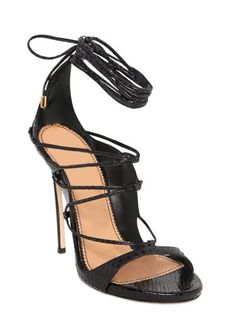 DSquared - 120MM Ayers Snakeskin Lace Up Sandals