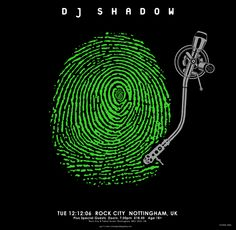 Poster by Emek for DJ Shadow