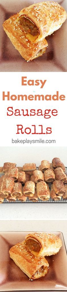 I've been making these sausage rolls for years! They're the yummiest things and are so simple. #sausage #rolls #homemade #recipe